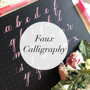 Faux Calligraphy Classes