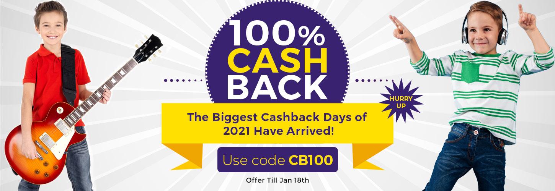 Top Banner - 100% Cash Back Offer