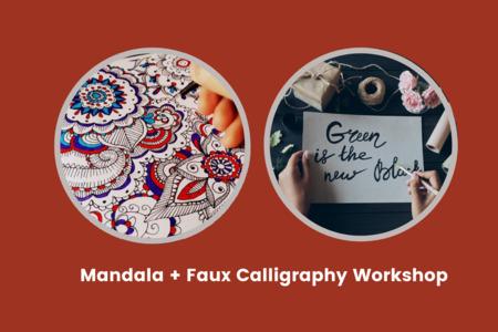 Mandala + Faux Calligraphy Workshop